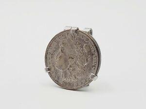 Vintage SWANK 1883 Morgan Silver Dollar Antique American Coin Money Clip