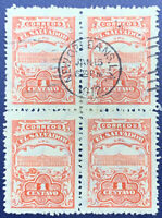 1912 NEW ORLEANS CANCEL ON EL SALVADOR STAMPS BLOCK, VERY RARE AND INTERESTING