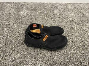 mens cushe shoes slipper black slip on size 10 EUC