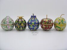 SET VASI VASETTI FRUTTI AUTENTICO CLOISONNE' - LITTLE SET FRUITS CLOISONNE' VASE