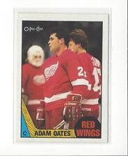 1987-88 O-Pee-Chee #123 Adam Oates RC Rookie Red Wings