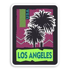 Sticker Laptop Luggage #19575 2 x 10cm Los Angeles California Vinyl Stickers