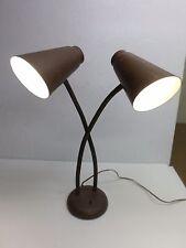 Vintage RETRO GOOSE NECK DUAL CONE DESK LAMP