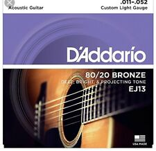 D'Addario EJ13 Custom Light Gauge 80/20 Bronze Acoustic Guitar Strings