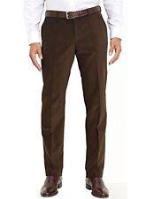 RALPH LAUREN MEN's CLASSIC FIT CORDUROY 42Wx30L DARK BROWN FLAT FRONT PANT NEW
