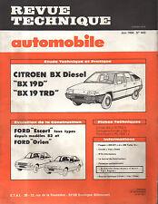 RTA revue technique automobile N° 445 CITROEN BX 19 d trd