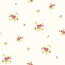 Shabby Chic Ruby Ditsy Daisy Cottage Decor 268163 Micro Chintz Wallpaper