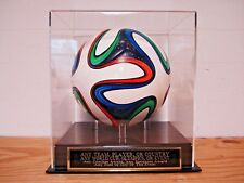 Any Player Or Team Acrylic Soccer Ball Display Case With An Engraved Nameplate