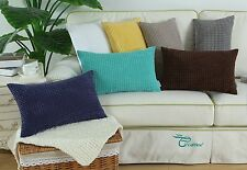 Polyester Cushion Covers Pillows Shell Corduroy Corn Striped Design Home 30x50cm