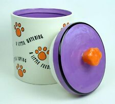 Purple Dreams Little Lovin Purple/Orange Pet Treat Jar Cat Dog Guinea Pigs Cute!