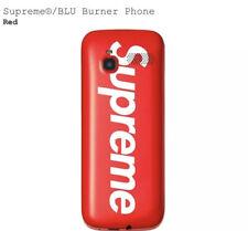 NEW IN HAND Supreme BLU RED Burner Phone 3G 16GB UNLOCKED GSM FW19 bogo tee