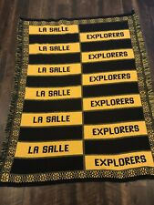 Vintage La Salle Explorers Quilt Throw Blanket 6 Foot By 4 Foot Warm And Cozy