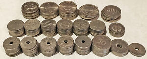 15,500 JAPANESE YEN in COINS (CHEAP VACATION MONEY?) SEE PICS > NO RESERVE