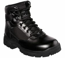 Skechers Work Relaxed Fit: Wascana WP Boots 77160EC Mens Leather Waterproof Shoe