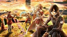 "Sword Art Online SAO ALO Japan Anime  Fabric Poster 24"" x 13"" Decor 33"