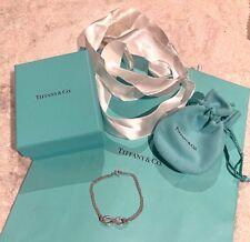 "Current TIFFANY & CO Silver Infinity Bracelet Sz 6""/15.5cm/Small $330 New Inch S"
