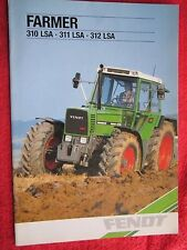 1991 FENDT FARMER 310LSA, 311LSA, & 312LSA TRACTOR 26page BROCHURE (FRENCH TEXT)