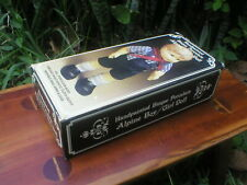 "Vintage Handpainted Bisque Porcelain Alpine Boy Doll 10"" All Porcelain Movable"
