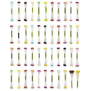 JEM Bunch of 50 Plain Flower Stamen for Floral Gumpaste Florist Paste Sugarcraft
