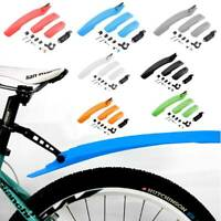 Easy Fix Bicycle MTB MudGuards Moutain Bike Front Rear Mud Guard SET Tire Fender