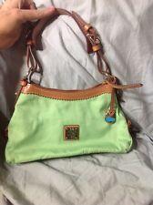 PRE-LOVED Used  Dooney & Bourke Small Hobo Handbag Nylon Green