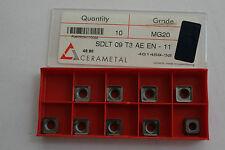 Cerametal Carbide INSERTO-SDLT 09t3aeen (MG20) 9 INSERTI
