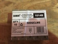 DAMAR 1014B 500W 130V CLEAR QUARTZ HALOGEN BULBS.T-4 SHAPE E-11 MINI