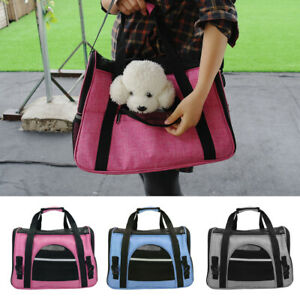 Pet Dog Carrier Bags Puppy Cat Soft-Sided Travel Crate Airline Approved Tote S L