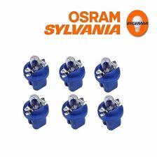 NEW Mercedes R129 W140 W170 W202 W210 Bulb 12V-1.2W Blue Set Of 6 OSRAM-SYLVANIA