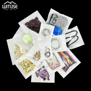 Plastic Retail Package Bags Gift Food Zip Lock Packing Pouch Heat Seal 100Pcs B