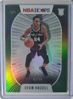 J82 2020-21 NBA Hoops Devin Vassell Rookie /99 Green RC Spurs Panini SP Holo