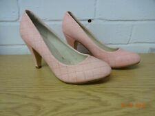 Jumex Salmon Pink Cross Stitch Pattern Court Shoes size 3