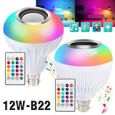 B22 Smart LED Light Bulb Wireless Bluetooth Speaker 12W RGB Music Night Lamp UK