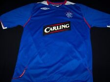 RFC Rangers Soccer Jersey FC Scottish Football Club Carling Umbro shirt size L