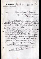"""MONTLUCON (03) Ets de TRAVAUX PUBLICS """"J.B. BALLAS"""" en 1910"""