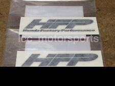 "x2 OEM Honda ""HFP"" HONDA FACTORY PERFORMANCE Black 3"" Wheel Rim Decals Stickers"