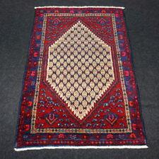 Orient Teppich Brücke 122 x 85 cm Rot Beige Blau Perserteppich Carpet Rug Tapijt