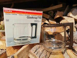 KRUPS Kaffeekanne Glaskanne Ersatzkanne Glaskrug T 10 Neu Originalkarton