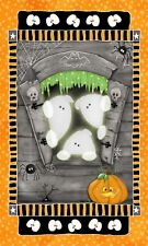 Chills & Thrills Halloween Henry Glass Panel Glow in Dark Ghost Pumpkin 6965pg