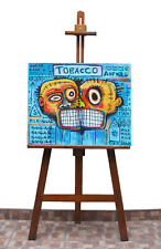 J M Basquiat Oil- Acrylic big painting on Canvas. 80s.No reproduction. BEAUTIFUL
