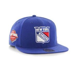 New York Rangers hat cap NHL '47 Brand Captain Mens Blue Snapback New