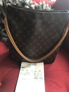 Auth LOUIS VUITTON Looping GM Shoulder Bag Monogram M51145 With Receipt