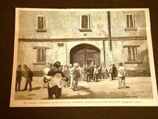 Stradella nel 1887 Davanti casa Agostino Depretis o De Pretis di Mezzana Corti