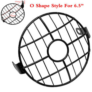 """New 6.5"""" Retro Motorcycle Headlight Grill Mask Mount Cover Metal For Cafe Racer"""