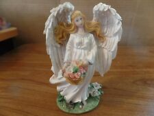 "5"" Tall Resin White Angel Figurine #2363"