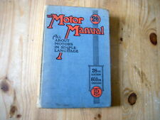 The Motor Manual, rare c1944 28th edition, very good