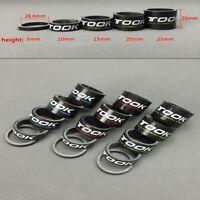 (5+10+15+20+25)mm 3K Carbon 1-1/8'' MTB Bike Fork Stem Headset Spacer Washer Set