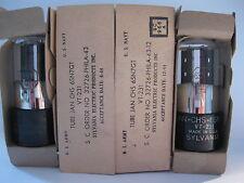 NOS/NIB Matched Pair SYLVANIA  JAN CHS 6SN7GT VT-231  Vacuum Tubes - 1944