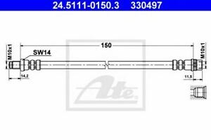 Flexible de frein RENAULT 25 (B29_) LAGUNA I (B56_, 556_) LAGUNA I Estate (K56_)