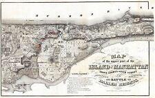 MAP ANTIQUE 1868 ROGER MANHATTAN NEW YORK CITY PLAN REPLICA POSTER PRINT PAM1886